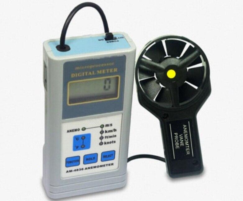 Digital Anemometer AM-4836 Handheld Wind Speed Meter Air Flow Meter AM4836 все цены