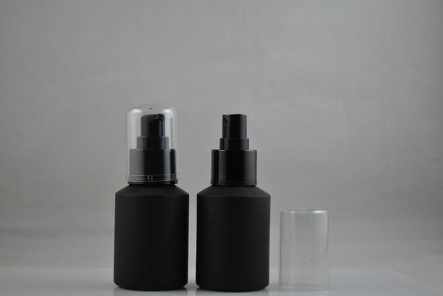 70b2bfcf0a65 US $51.58 |Freeshipping 60ml Black Glass Spray Bottle Essential Oil Bottle  Refillable Bottle Perfume Glass Plastic Wholesale-in Refillable Bottles ...