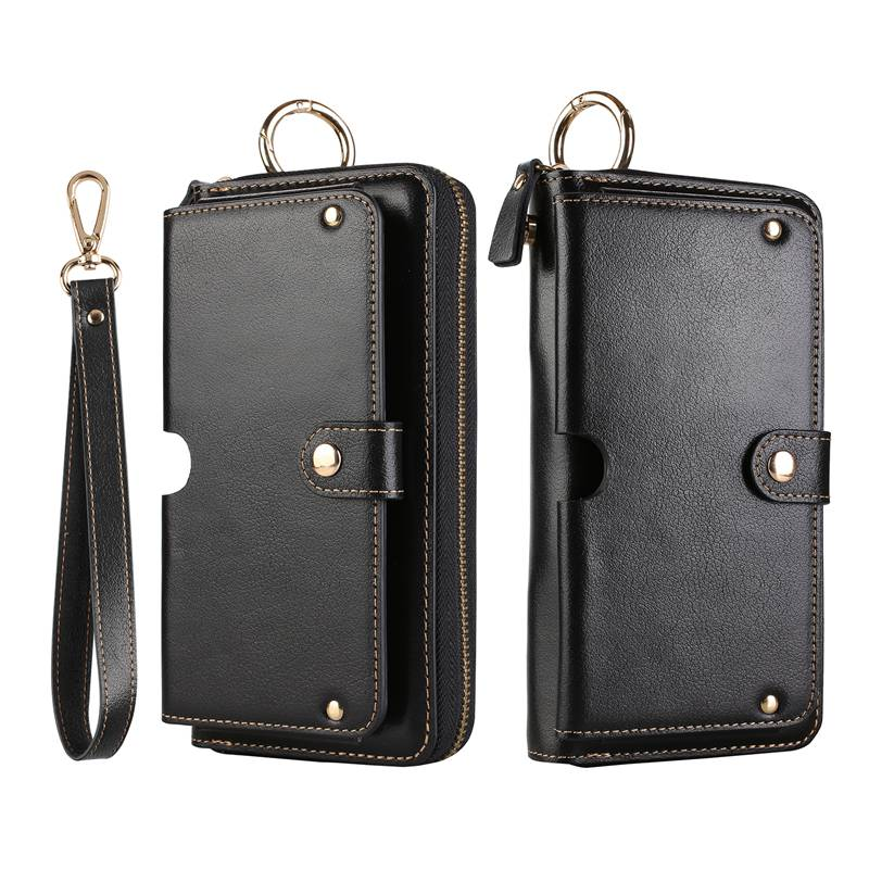 Genuine Leather Handbag Case For Huawei P9 P10 P20 Lite Mate 9 10 Pro Wallet Pouch Universal Strap Multipurpose Phone Bags Cases