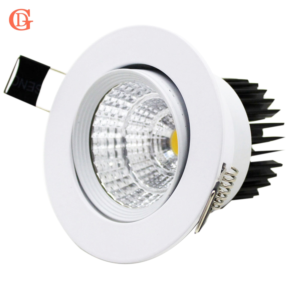 Dimmable LED Downlight 7W 10W 12W 15W 20W 24W Downlight tersembunyi LED 85-265V Down Down Light Lampu Downmable Dimmable Bulbs W / Driver