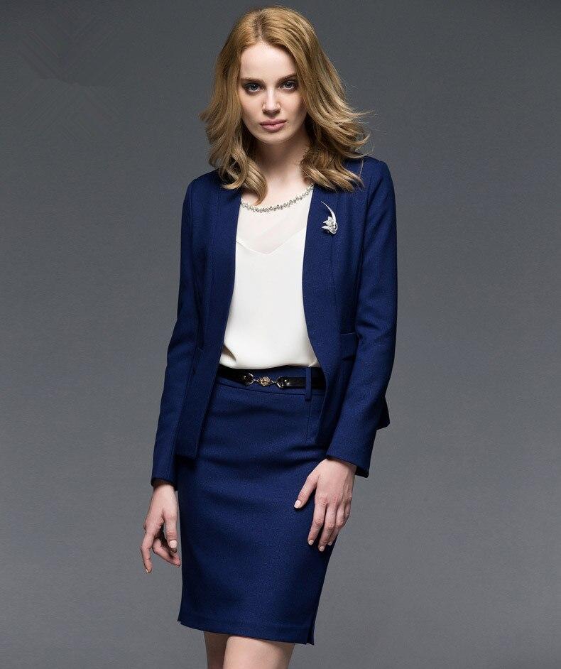 las de traje la 2015 señora manera vendedor negocio de caliente ol de en por ocasional traje Trajes elegante azul chaqueta encargo delgada mujeres real de wvC4wFqn