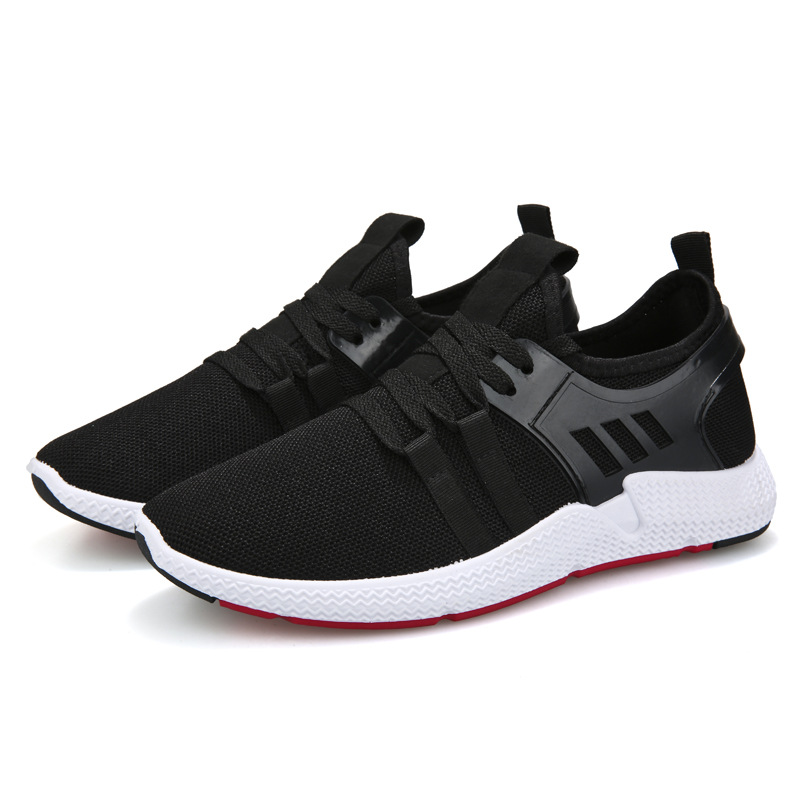 YeddaMavis Men Sneakers Black Running Shoes 2019 Spring Fashion Men Shoes Flying Fabric Mesh Air Lace Up Shoes Zapatos De Hombre in Men 39 s Casual Shoes from Shoes