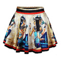 2016 New Emoji Skirt Roman Women Bohemian Printed Pleated Skirts Female Retro Summer Skater Skirt SL0635