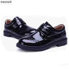 ad5b093eb52c2c Weoneit Boys Leather Shoes for Children Black Leather Dress Wedding Party  Dance Shoes Kids Boys School Performance Shoes CN26-37
