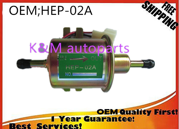 TOP High quality free shipping Universal Diesel Petrol Gasoline Electric Fuel Pump HEP-02A Low Pressure 12V HEP02A K-M