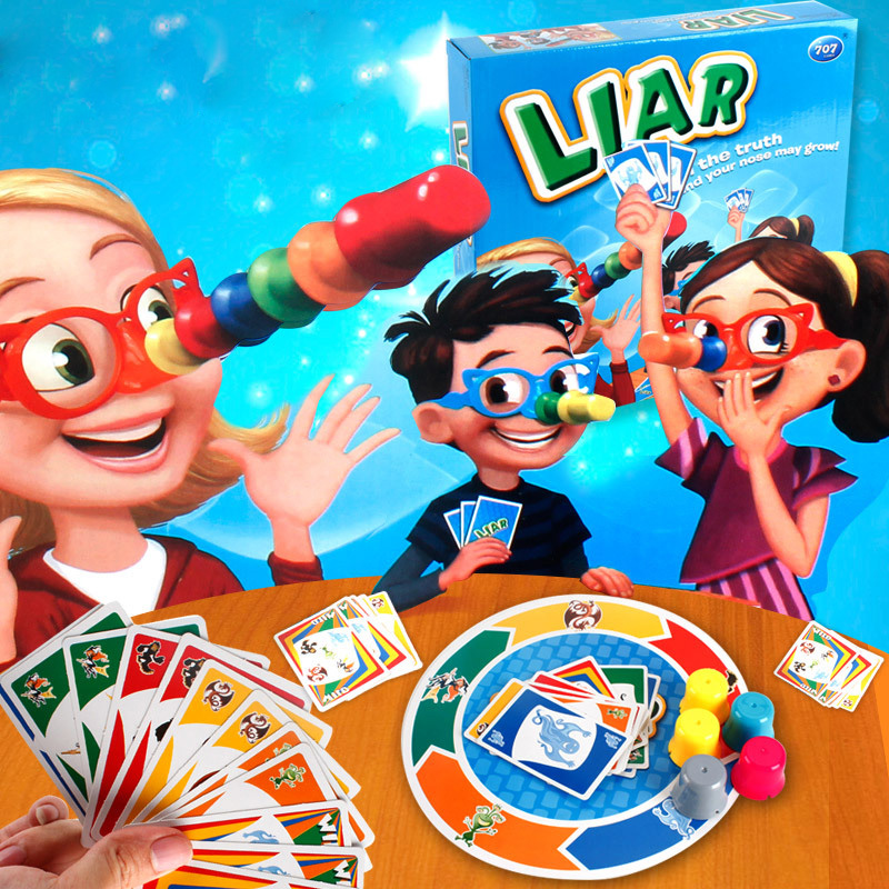 Novelty Gag Toys Deceive the Tricky Game of Table Tennis Guess Who Lies and Punish Intelligence Toys 707 58