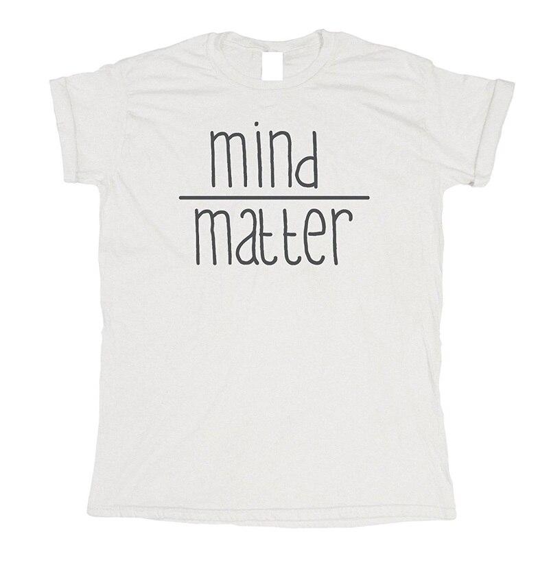 Cheap Printed T Shirts O-Neck Men Mind Over Matter Short Sleeve Regular Tee Shirt
