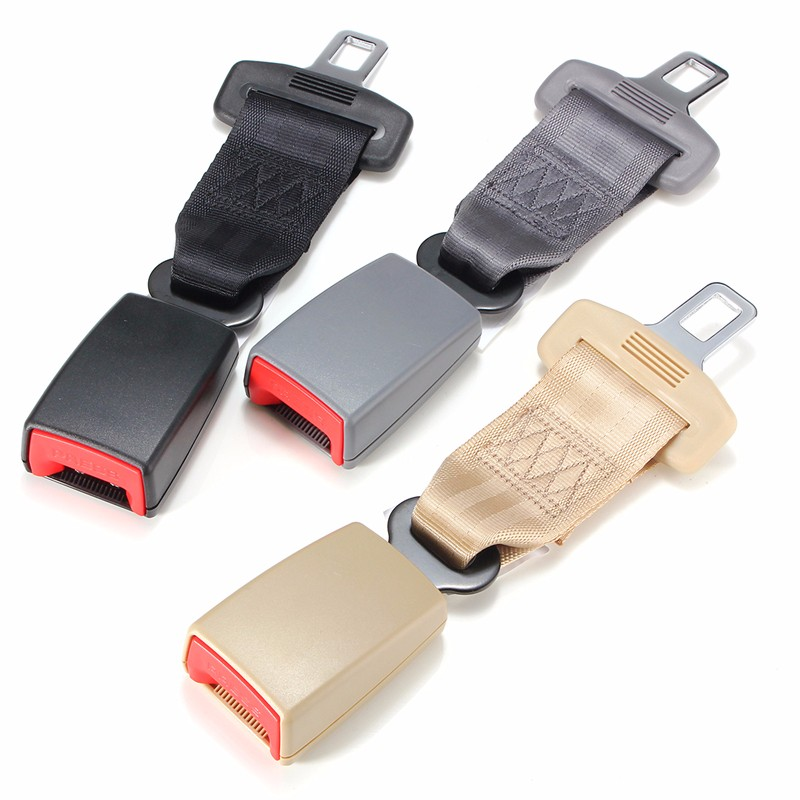 Universal 23 cm/9 pouces Voiture Seat Ceinture de Sécurité Ceinture de Sécurité Extender Extension 2.1 cm Boucle Noir Gris Beige Adapte la plupart des Véhicules