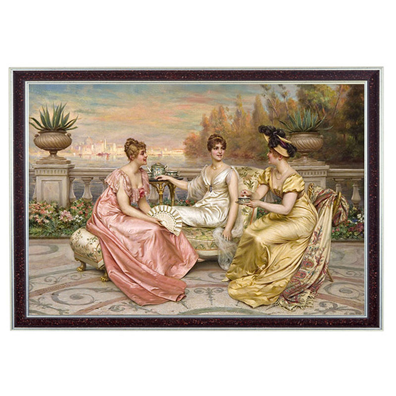 Needlework DIY 14CT Unprinted Embroidery Counted DMC Cross stitch Kit Beauty Three Graces Pattern Cross stitch