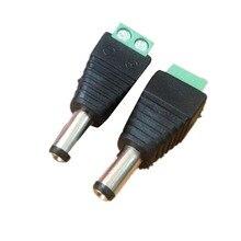 10 Pcs DC Power Adapter No Welding Female Head Tape Terminal Plug 5.5* 2.1mm Converter Built-in Terminals