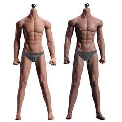 1/6 Schaal 12 ''Ultra Flexibele Gespierde Mannelijke Naadloze Body Stainlee Staal Skeleton Rubber mensachtige Huid Lichamen voor 1/6 Hoofd Speelgoed
