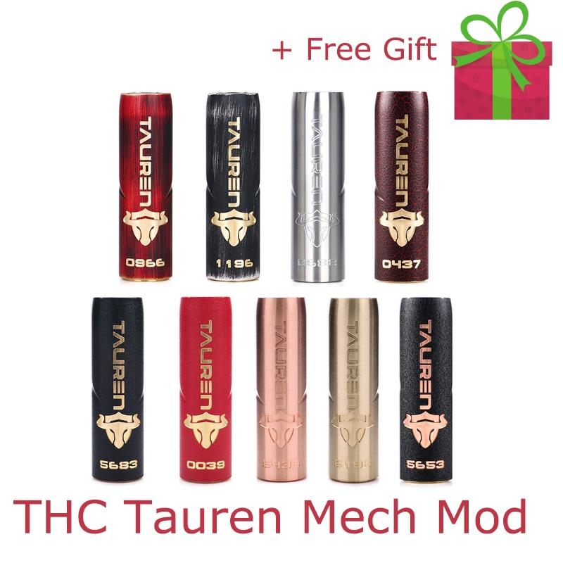 Cigarette électronique Mech mod Original THC Tauren Mech soutien unique 18650/20700/21700 vs vgod mech pro elite Mod