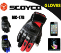 (1 Pair) 100% Waterproof Motorcycle Touch Sensitive Glove, Cycling Racing Sport Protective Gloves(Scoyco MC17B)