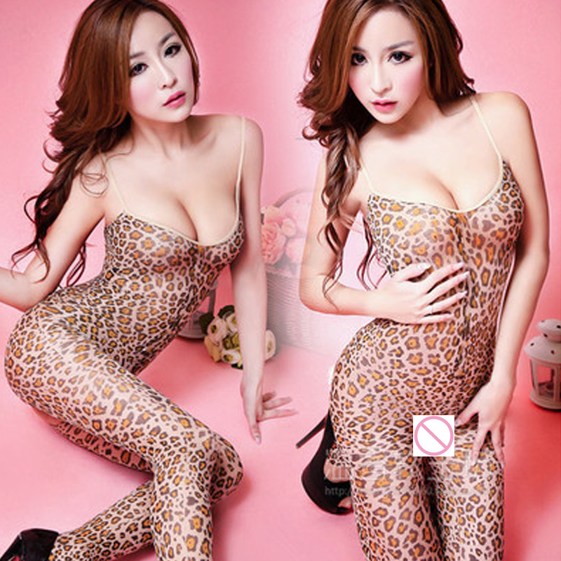 2018 Leopard Grain Costumes Women Sexy Lingerie Hot O-Neck Babydoll Dress Erotic Lingerie Female Clothes Exotic Apparel 5