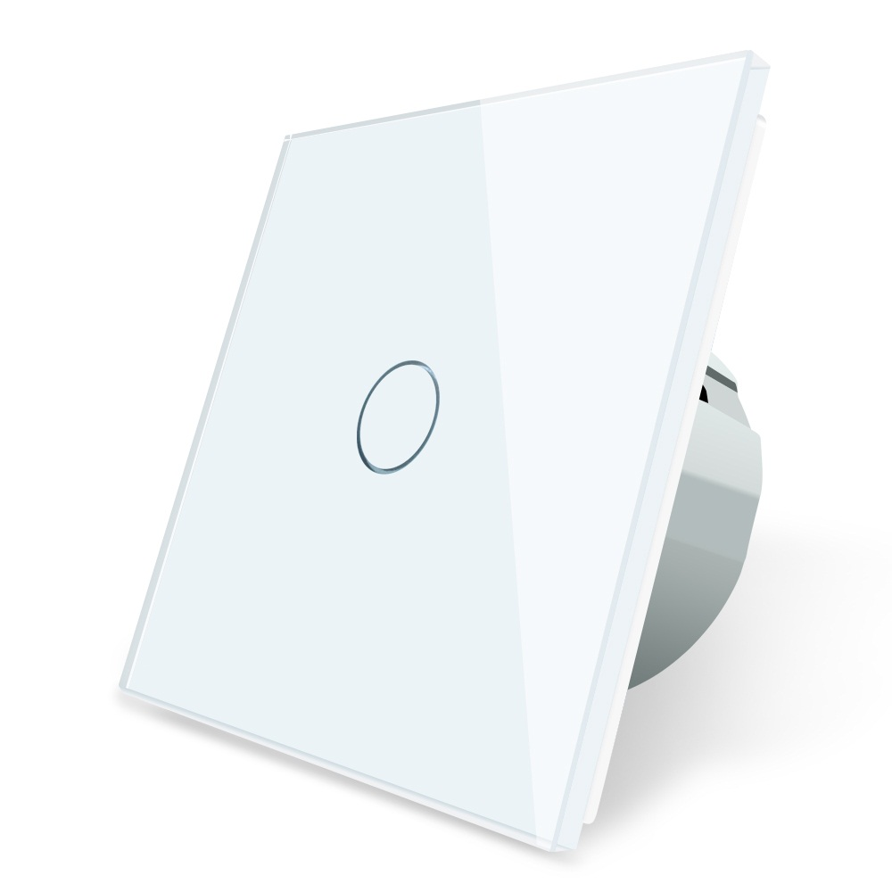 Smart Home Switch EU Standard Touch Switch, White Crystal Glass Panel, 220~250V Wall Light Switch OS-01-1/2/3 Livolo 2016 hot sale home automation remote control touch switch wall switched eu standard 3gang 2way white crystal glass panel