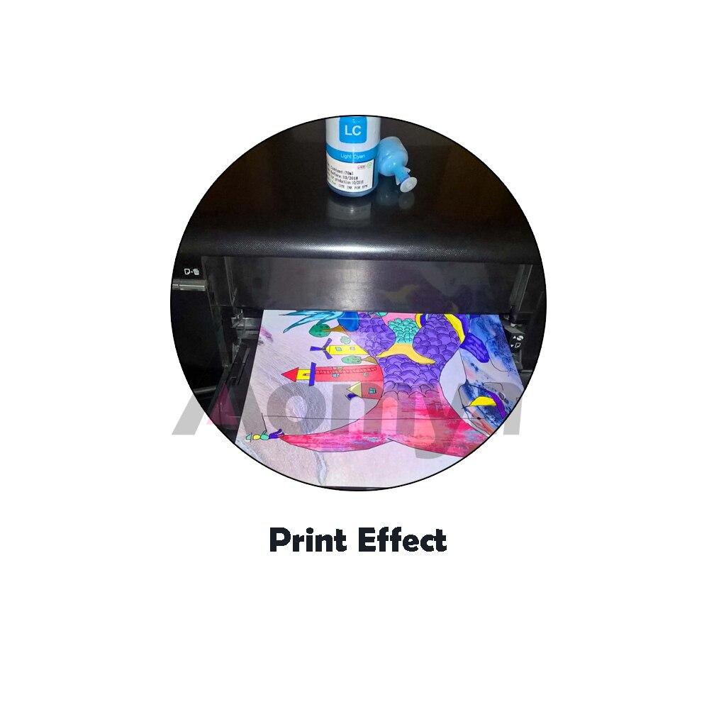 Купить с кэшбэком Aomya 4 Color Dye Based Refill Ink Kit for Epson L100 L110 L120 L132 L210 L222 L300 L312 L355 L350 L362 L366 L550 L555 Printer