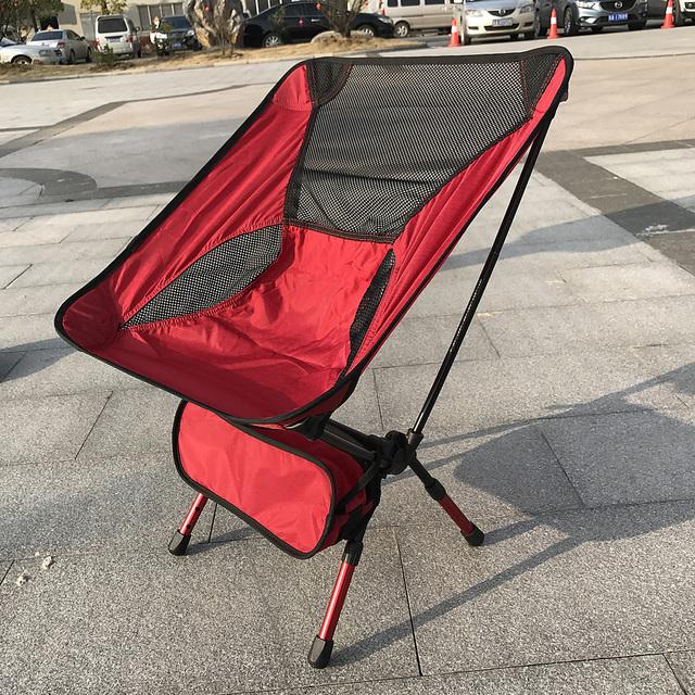 Nova Chegada vermelho Peso Leve Camping Stool Assento Da Cadeira de Dobradura Ao Ar Livre Portátil para Pesca Festival Picnic CHURRASCO de Praia Com Saco