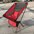Red New Arrival Portable Outdoor Light Weight Camping Stool Folding Chair Seat for Fishing Festival Picnic BBQ Beach With Bag