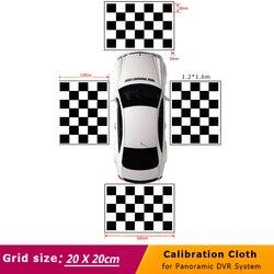4.4*1.2 m/1.6*1.2 m 3D kamera samochodowa kalibracja tkaniny do 360 stopni Surround Bird View panoramiczny system dvr w Kamery pojazdowe od Samochody i motocykle na