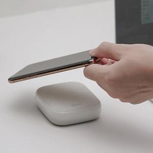 Image 2 - Xiaomi SOLOVE 10000mAh cargador inalámbrico 2.1A carga rápida cargador ultrafino de teléfono móvil para iPhone Xiaomi Tablet