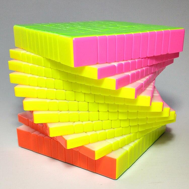 Oyuncaklar ve Hobi Ürünleri'ten Sihirli Küpler'de Yuxin Huanglong 11x11x11 küp sihirli küp 11 Katmanlar 11x11 küp magico cubo hediye oyuncaklar'da  Grup 2