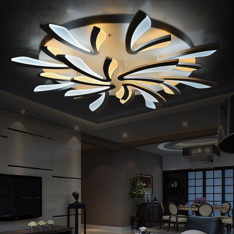 Flush Mount Modern Light For Living Room Acrylic Bicolor Light Guide Plate Chandelier Avize Home
