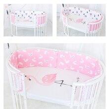 2018 1pc Nordic New Comfortable Soft and Breathable Crib Bumper 120 * 30cm Crib Child Bed Cotton No Fluorescent Cartoon Bumper