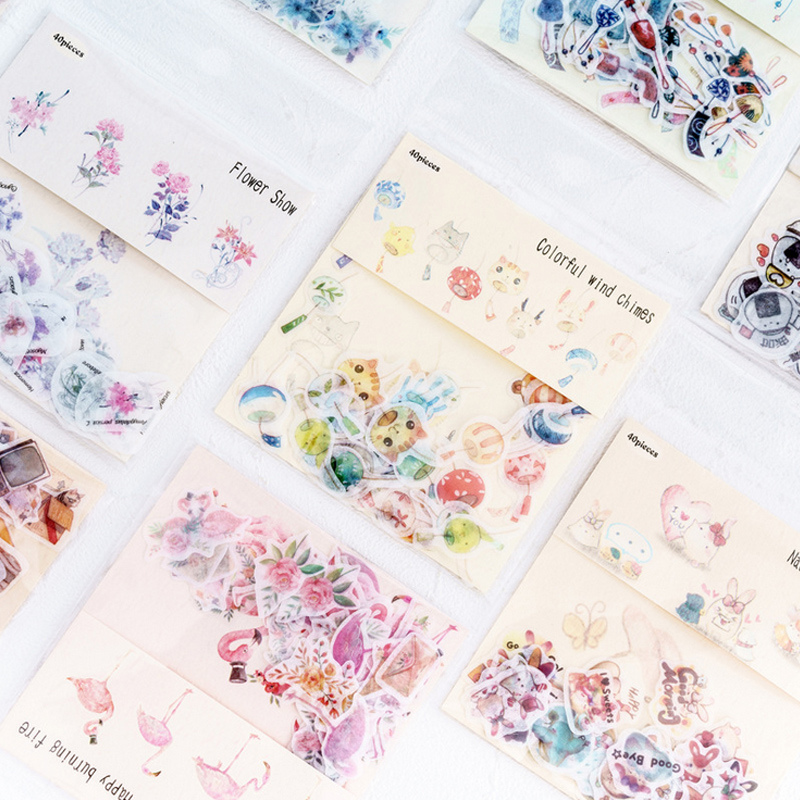 40 Pcs/lot Refreshing Flower Mini Paper Sticker Decoration Stickers DIY Ablum Diary Scrapbooking Label Sticker Kawaii Stationery