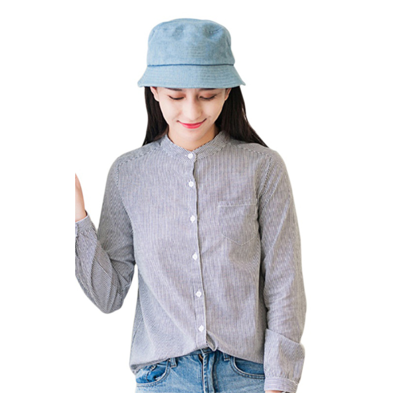 2018 New Women Blouses Shirt Female Spring Autumn Stripe Long Sleeve Shirts Women Tops and blouses  S4