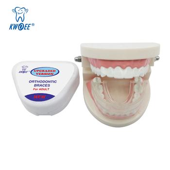 Dla dorosłych niewidoczne ortodontyczne szelki urządzenia stomatologiczne zębów Anti Molar ustalający prawidłowe Buck ząb wyrównują narzędzie ortopedyczne dostaw tanie i dobre opinie KWOEE CN (pochodzenie) Umiarkowany KE-TH-001 Do wybielania zębów Food grade material Adult or Children older than 12 years