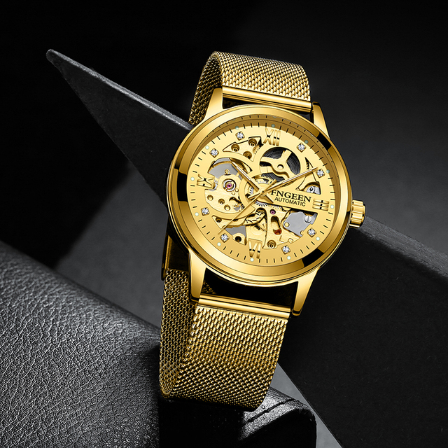 Skeleton Watch 2020 New FNGEEN Sport Mechanical Watch Luxury Watch Mens Watches Top Brand Montre Homme Clock Men Automatic Watch 4