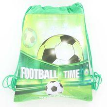 10 pc Futebol Tema Futebol Dos Desenhos Animados Não-Tecido Sacos de Cordão  Mochila Fontes Do Chuveiro de Bebê Festa De Aniversá. 4f84cdda74276