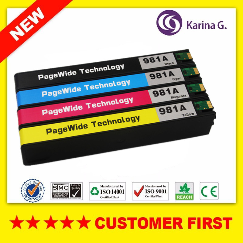 Compatible Ink Cartridge For HP981 HP981A suit for PageWide Enterprise Color 556xh/dn/MFP 586dn/f/z/MFP E58650dn/MFP E55650Compatible Ink Cartridge For HP981 HP981A suit for PageWide Enterprise Color 556xh/dn/MFP 586dn/f/z/MFP E58650dn/MFP E55650