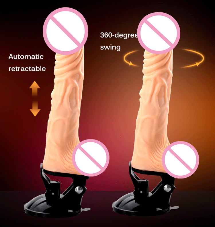 2016 new electric telescopic dildo vibrator Strong suction cup silicone penis USB charging big dick sex machine for women 2440