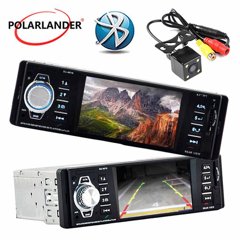 Nouveau lecteur CarMP5 4.1 pouces HD TFT écran en 1 din taille 12V autoradio avec télécommande Support caméra arrière SD/USB/AUX in