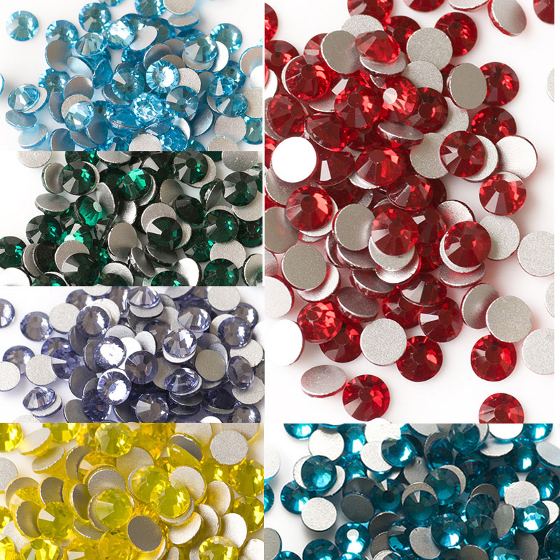 e2ca3bf38c SS20 Colors Non Hotfix Rhinestones For Clothes Sportswear & Nail Art  Decorations Flatback Crystals Stones Accessories