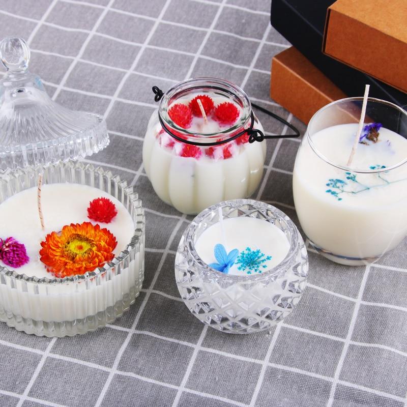 CHUANGGE Κερί DIY Πακέτο Set Κερί Σόγιας - Διακόσμηση σπιτιού - Φωτογραφία 2