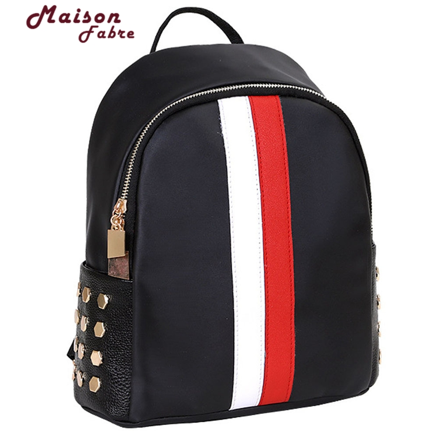 High Quality PU Leather Women Backpack Preppy Style School Backpack Black Mater Women Bag Mochila Feminina 1012#23