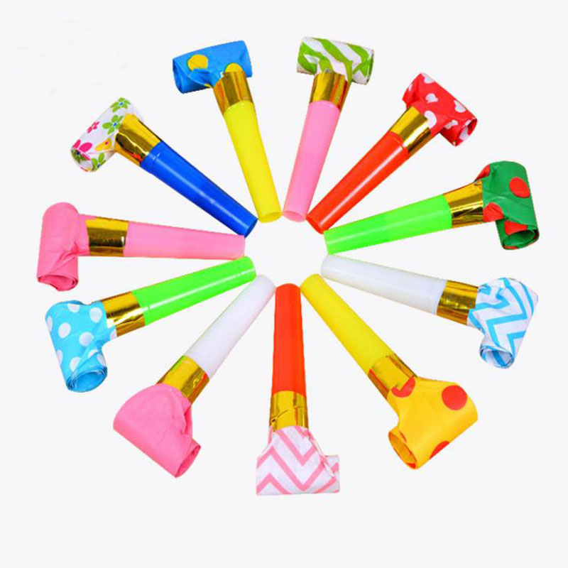 Party Favors Event & Party Humorous 20 Pcs Hot Birthday Party Funny Prop Noise Maker Toys Children Party Roll Gold Paper Blowouts Whistles Party Favor Small Speaker