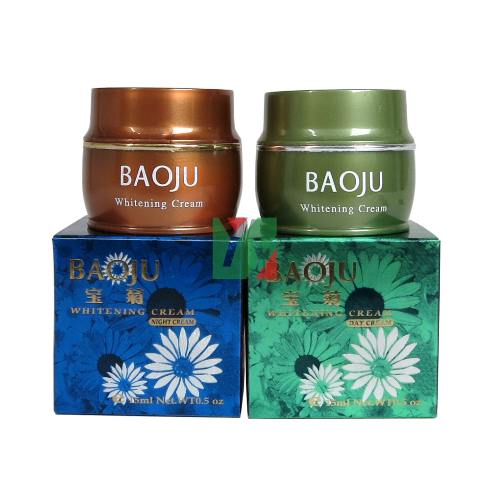 BAOJU Whitening day cream+night cream skin care anti spot fade out mark whitening blemish serum black melanomas downplay the spot whitening skin care 7 1000ml cream for black spot free shipping