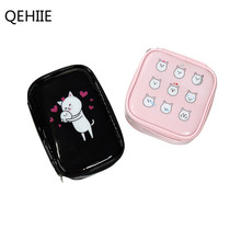 QEHIIE 2017 New Cartoon Cat PVC Waterproof Cute Cosmetic Bag Portable Storage Travel Organizer Woman Makeup Bag For Girl's Gift