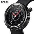Break hombres frescos reloj deportivo correa de caucho casual moda pasión superior geek regalo creativo de lujo a prueba de agua relojes de pulsera