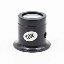 Jeweler Watch Magnifier Tool 10X Monocular Magnifying Glass Loupe Lens Eye Magnifier Len Repair Kit Tool 10x glasses magnifier handheld led scale loupe portable 28mm jeweler magnifying glass 8 led light reticle scale magnifying tool
