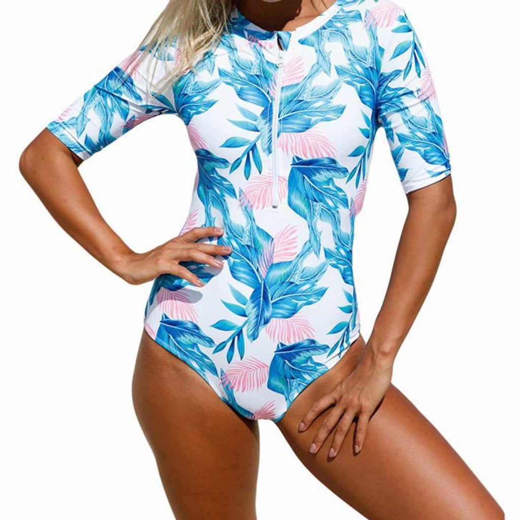 Perimedes гидрокостюмы для девочек, Рашгард, цветочный принт, длинный рукав, на молнии, защита от ультрафиолетового излучения, для серфинга, купальник, купальный костюм, # g50