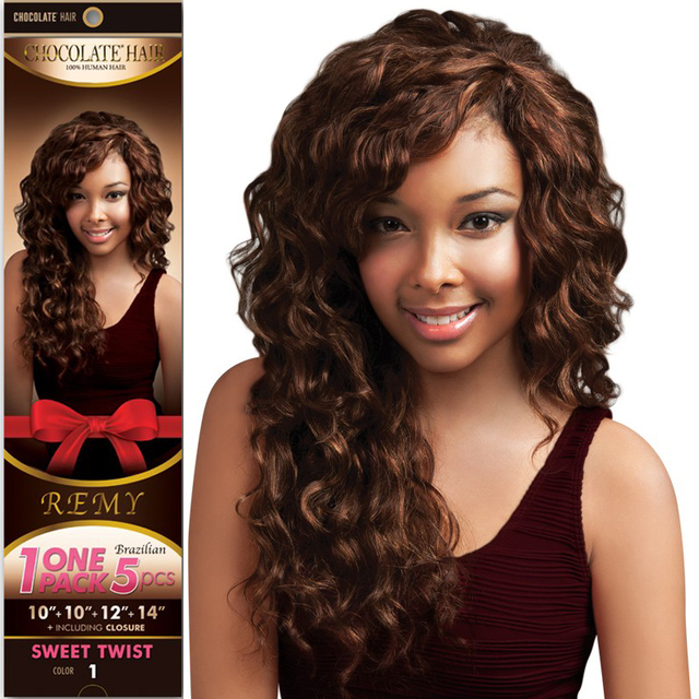 10packs Evertress Chocolate Sweet Twist Curl One Pack 5pcs1010