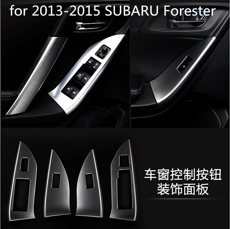 Livraison gratuite voiture autocollants de lève-vitre panneau décoration voiture-style pour 2013 2014 2015 Subaru Forester