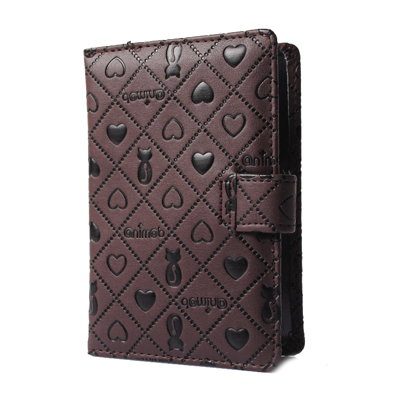 PU Leather Passport Cover Cute Persian Pattern Travel Visiting Card Pouch Passport Case Card Holder -- 01BIY015 PR49 1pc high quality pu leather russian driver s license cover for car driving documents the cover of the passport bih002 pr49