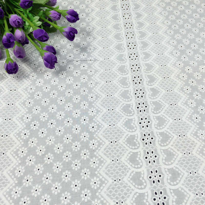 0118ca55b60280 ... White Cotton Voile Eyelet Embroidery Lace Fabric Blouse Skirt Table  Cloth Skirts Patchwork Sewing Cloth Fabrics ...