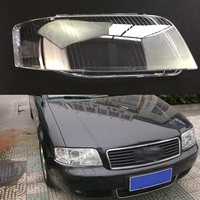 For Audi A6 2003 2004 2005 Transparent Car Headlight Headlamp Clear Lens Front Auto Shell Cover