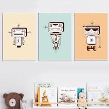 Tout Usage Robot Nordique Affiche Et Affiches Du0027art Mur Toile Peinture Mur  Photos Pour Enfants Chambre Bébé Garçon Fille Chambre.